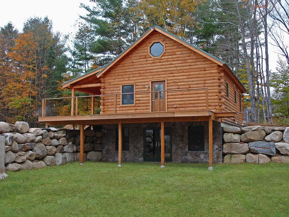 Woodland shell log cabin costs only 37 000 looks for Cost to build shell of house