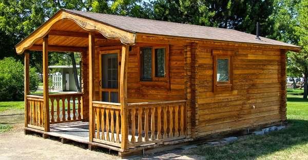 Cute little wooden house