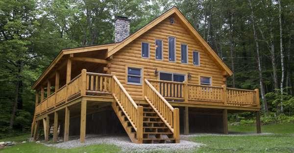 Just 35 400 for the diy 39 er or 68 900 complete log home for Diy log cabin plans